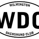 WDC Wilmington Dachshund Club (Euro Sticker Style) by Rich Anderson