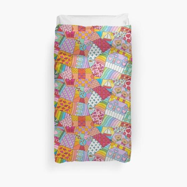 Enchanted Fairy-tale Crazy Quilt Duvet Cover