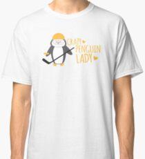 Crazy (ICE HOCKEY) Penguin Lady Classic T-Shirt