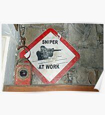 Scharfschütze bei der Arbeit Poster