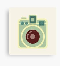 Vintage Square Camera Canvas Print