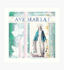 AVE Maria Kunstdruck