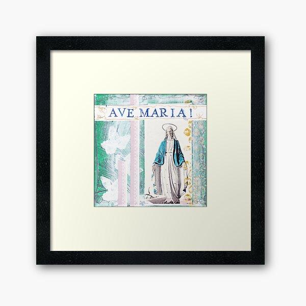 AVE Maria Gerahmter Kunstdruck