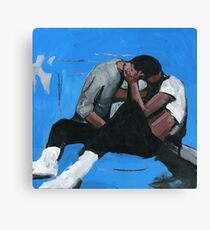 very blue and gay  Canvas Print