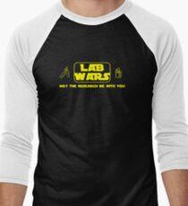 Lab Wars (yellow) Men's Baseball ¾ T-Shirt