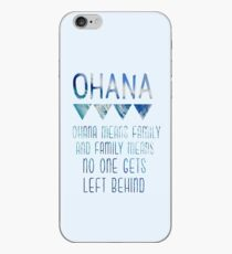 Vinilo o funda para iPhone Ohana significa familia