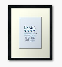 Ohana Means Family Framed Print