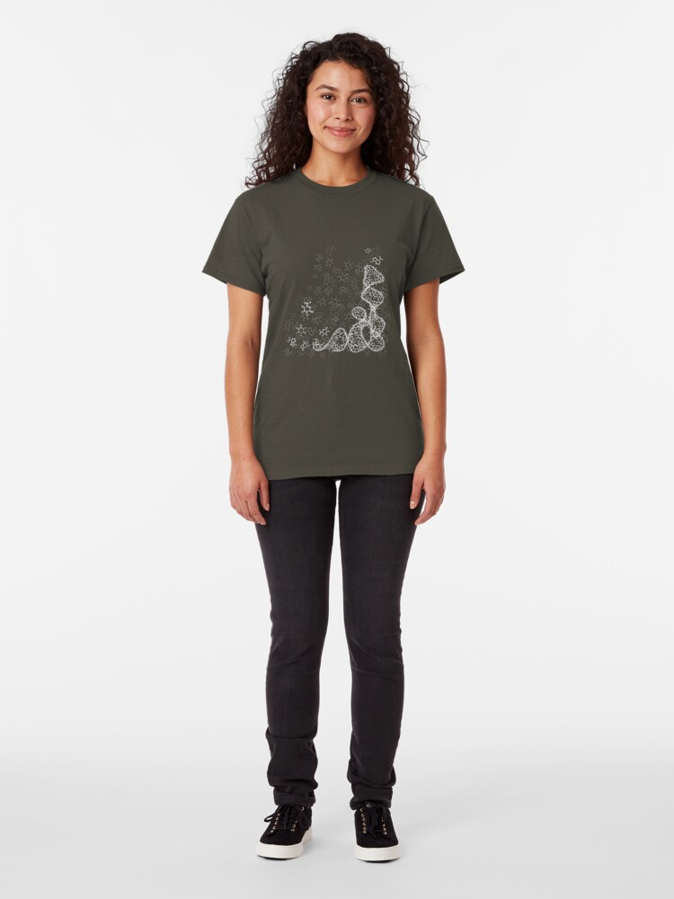 Alternate view of tRNA (transfer RNA) structure - white Classic T-Shirt