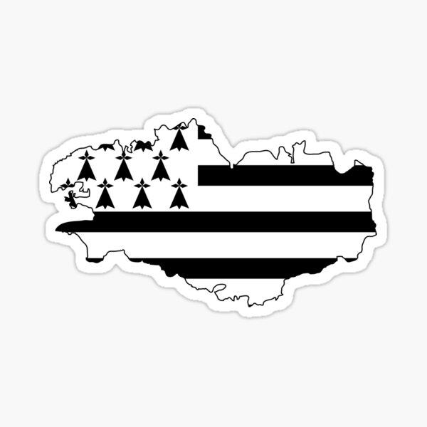 Drapeau de la Bretagne en France Sticker