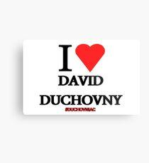 I Love David Duchovny Metal Print