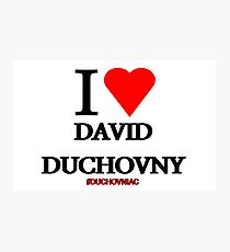 I Love David Duchovny Photographic Print