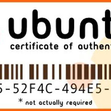Ubuntu sticker Serial  by hexdsl