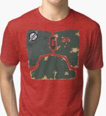 Boba Fett chestplate design  Tri-blend T-Shirt