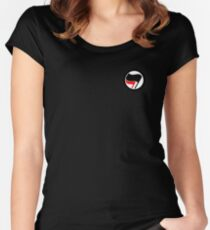 antifa logo Women's Fitted Scoop T-Shirt