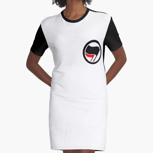 antifa logo Graphic T-Shirt Dress