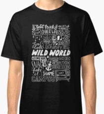 WILD WORLD - SONG TITLES (DARK) Classic T-Shirt