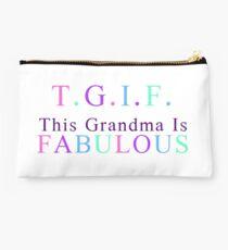 Grandma Products - T.G.I.F. This Grandma is Fabulous Studio Pouch
