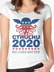 Cthulhu 2020 No Lives Matter Women's Fitted Scoop T-Shirt