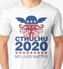 Cthulhu 2020 No Lives Matter Slim Fit T-Shirt