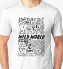 WILD WORLD - SONG TITLES (LIGHT) T-Shirt