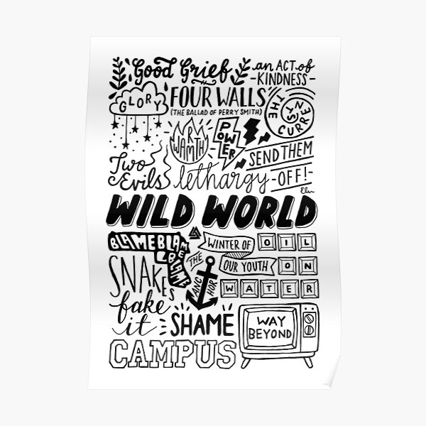 WILD WORLD - SONG TITLES (LIGHT) Poster