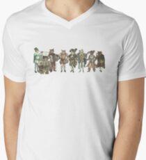 Felis Simha Rock Band Mens V-Neck T-Shirt