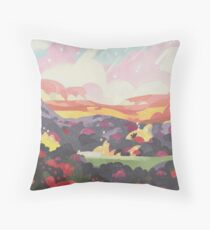 Minimalist Strawberry Battlefield Throw Pillow