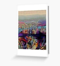 Abstract New York City By RD Riccoboni Greeting Card