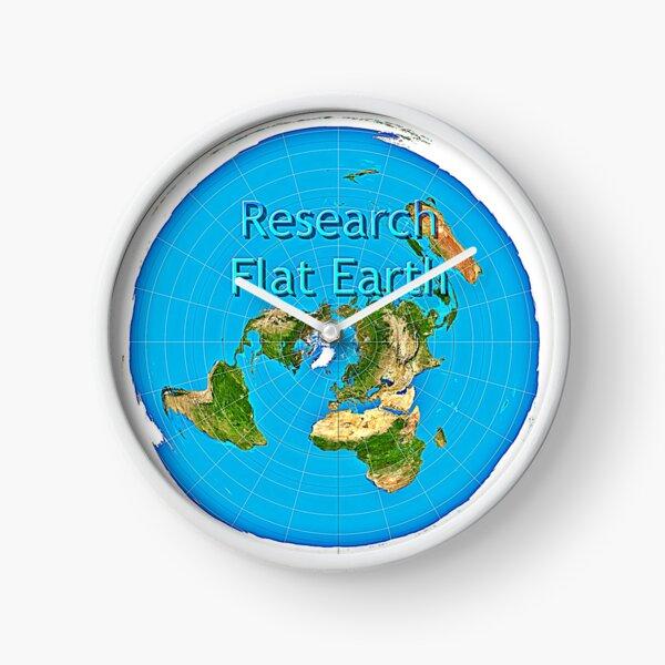 Research Flat Earth | Azimuthal Flat Earth Map Clock