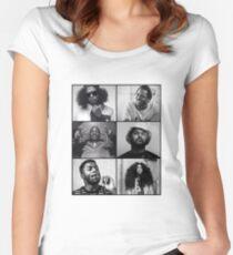 TDE - Kendrick, Ab-soul, Q, Jay Rock, Isaiah, SZA  Women's Fitted Scoop T-Shirt