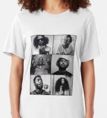 TDE - Kendrick, Ab-soul, Q, Jay Rock, Isaiah, SZA  Slim Fit T-Shirt