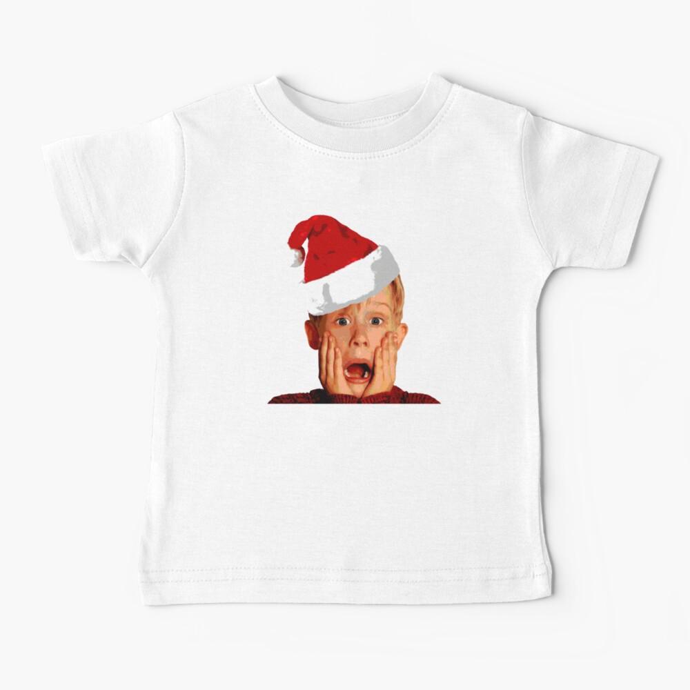 Home Alone Santa Hat T-Shirt: Macaulay Culkin Christmas Holiday Baby T-Shirt