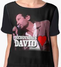 Duchovniacs Love David Chiffon Top
