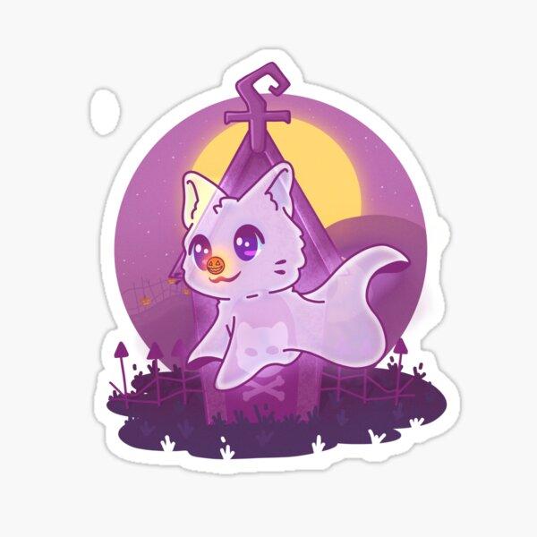 Zero the cat ghost Sticker
