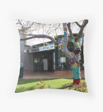 The Library Tree  Throw Pillow