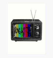 Persona 4 Color Bar TV Art Print