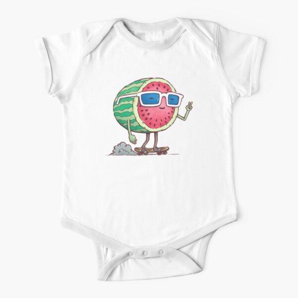 Watermelon Skater Short Sleeve Baby One-Piece