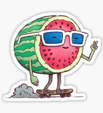 Watermelon Skater Sticker