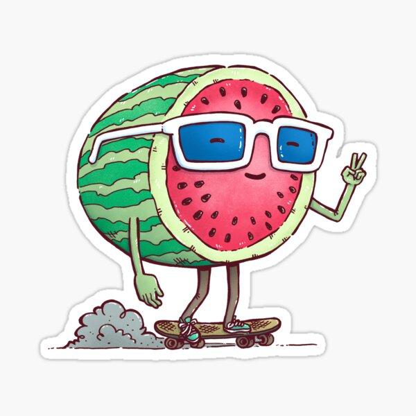 Watermelon Skater Sticker