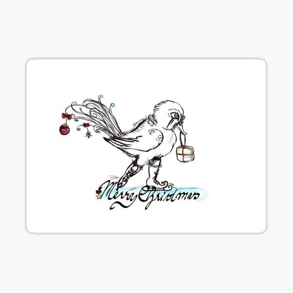 Snozzleberry Duck Christmas Sticker