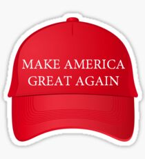 Trump Famous Make America Great Again Red Cap Sticker