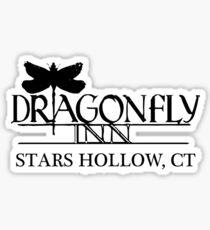 Dragonfly Inn Logo - Gilmore Girls Sticker