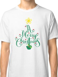 FESTIVE CHRISTMAS T-SHIRT :: christmas tree type Classic T-Shirt