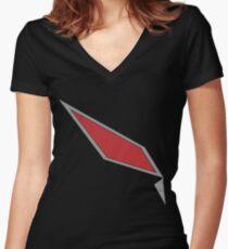 Pokémon Sun & Moon - Gladion's Jacket Design Women's Fitted V-Neck T-Shirt