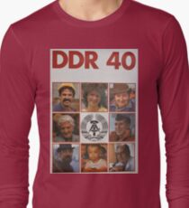 DDR 40, 40 years East Germany, Propaganda Poster 1989 Long Sleeve T-Shirt