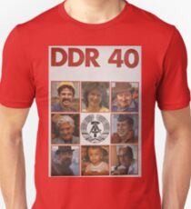 DDR 40, 40 years East Germany, Propaganda Poster 1989 Unisex T-Shirt