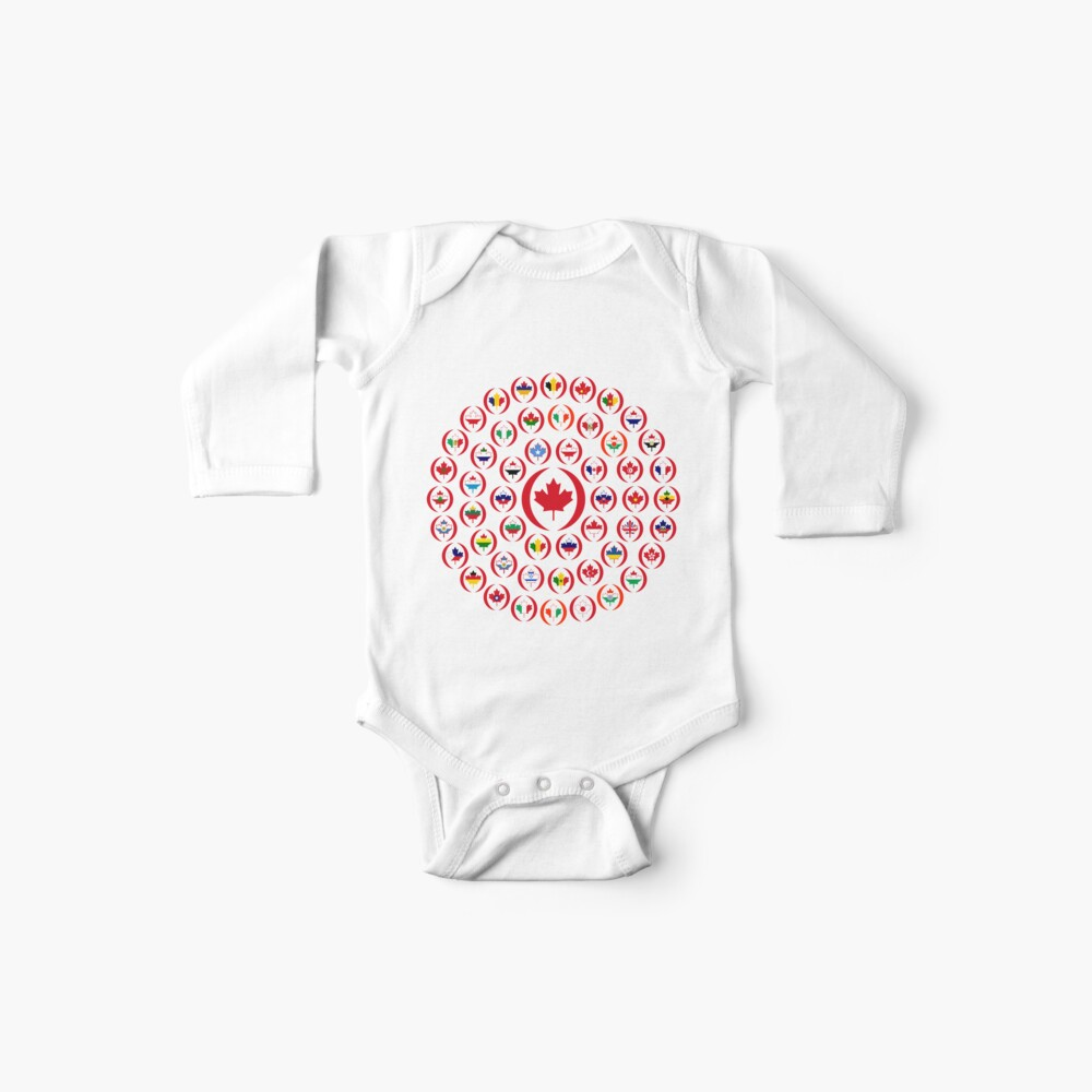 We Are Canada Multinational Patriot Collective 1.0 Baby One-Piece