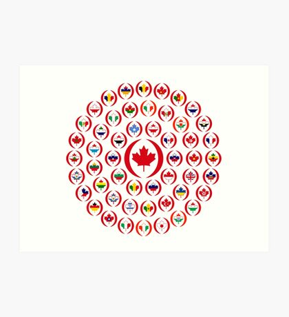 We Are Canada Multinational Patriot Collective 1.0 Art Print