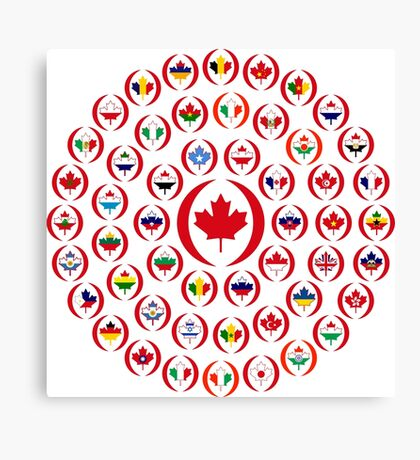 We Are Canada Multinational Patriot Collective 1.0 Canvas Print
