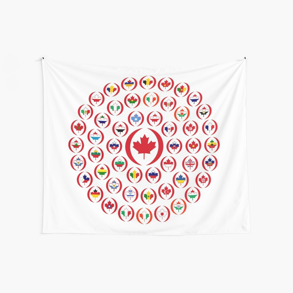 We Are Canada Multinational Patriot Collective 1.0 Wall Tapestry